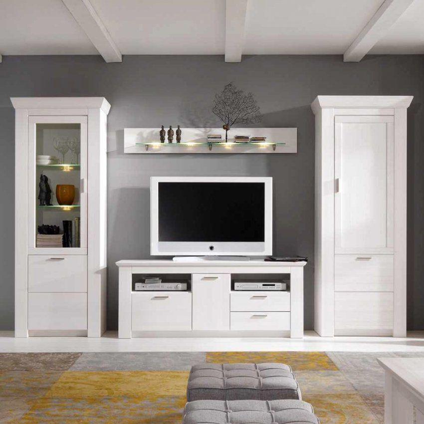 Ungewöhnlich Ikea Wohnwand Ideen  Wohnzimmer Dekoration Ideen von Wohnwand Landhausstil Weiß Ikea Bild