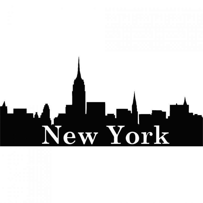 Unglaubliche Ideen Skyline New York Wandtattoo Und Bezaubernde Farbe von Skyline New York Wandtattoo Photo