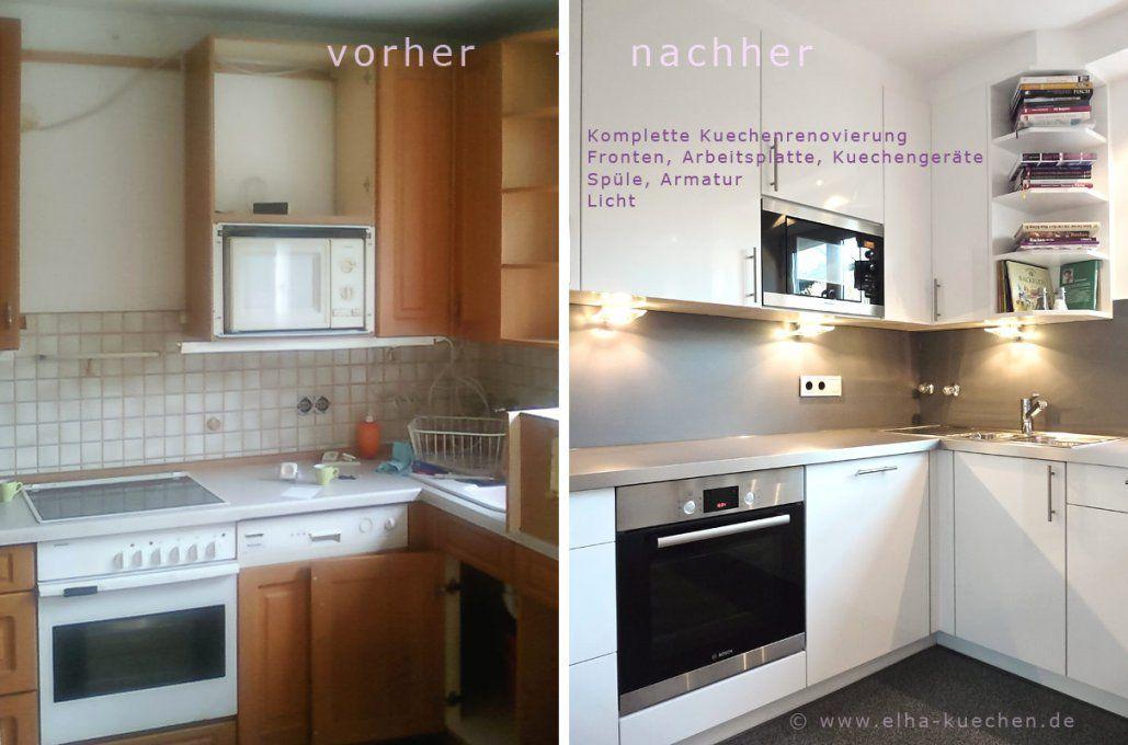 Unglaubliche Inspiration Alte Küche Neu Gestalten Vorher Nachher Und von Küche Neu Gestalten Renovieren Bild