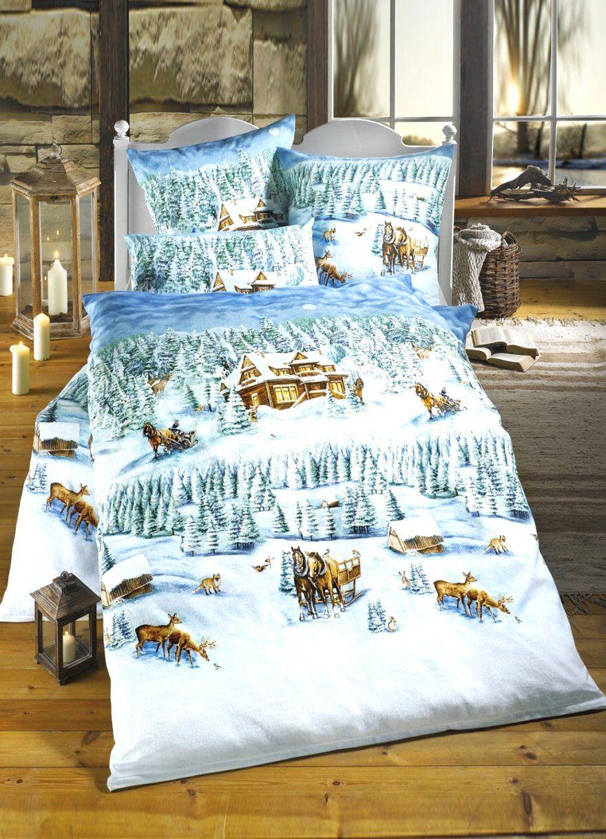 Unglaubliche Inspiration Bettwäsche Mit Weihnachtsmotiv Und Geniale von Biber Bettwäsche Weihnachtsmotiv Bild