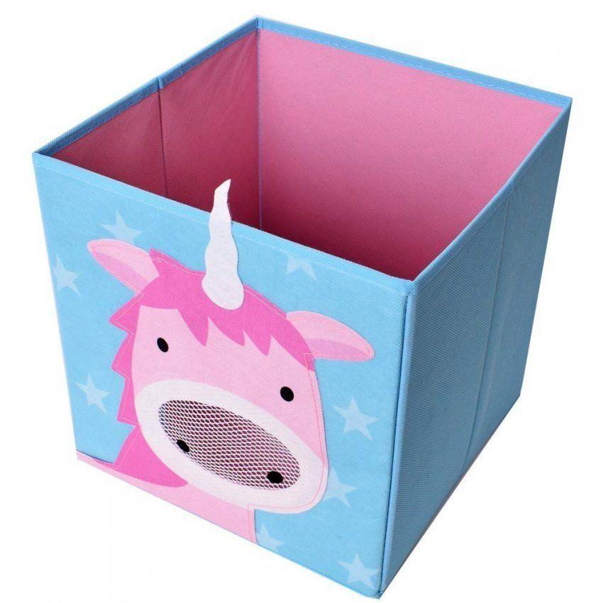 Unicorn  Faltbox Spielzeugkiste Mit Einhornmotiv  Aufbewahrung Im von Regal Mit Aufbewahrungsboxen Für Kinderzimmer Bild