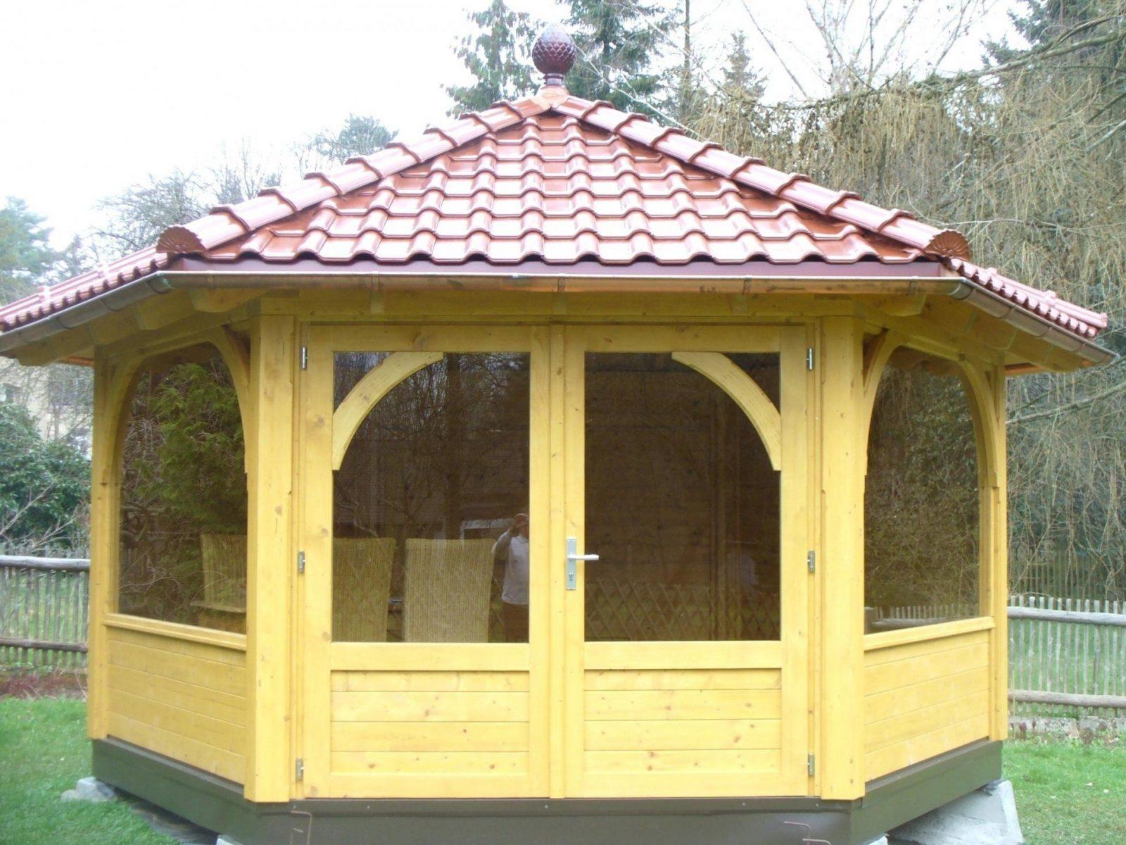 Unique Holz Pavillon 3A—4 Flachdach Selber Bauen 6 3A4 7 Gartenmobel von Pavillon Selber Bauen Flachdach Bild