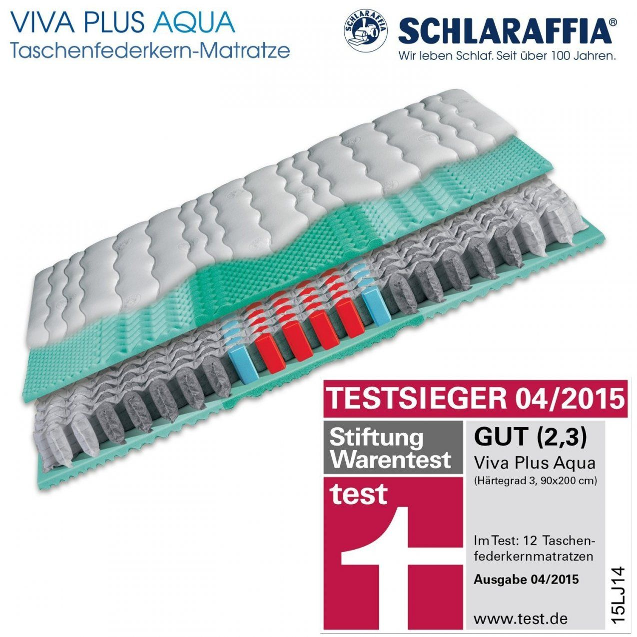 Unique Schlaraffia Viva Plus Aqua Taschenfederkern Plus Matratze 80 von Schlaraffia Matratze Viva Plus Aqua Photo