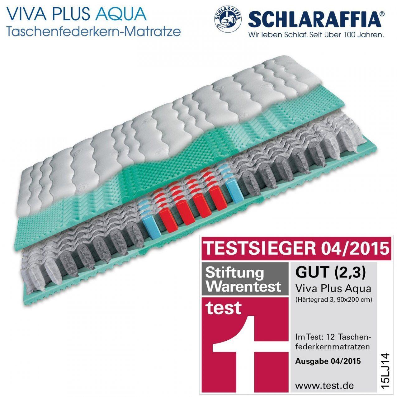 Unique Schlaraffia Viva Plus Aqua Taschenfederkern Plus Matratze 80 von Schlaraffia Viva Plus Aqua H3 90X200 Photo