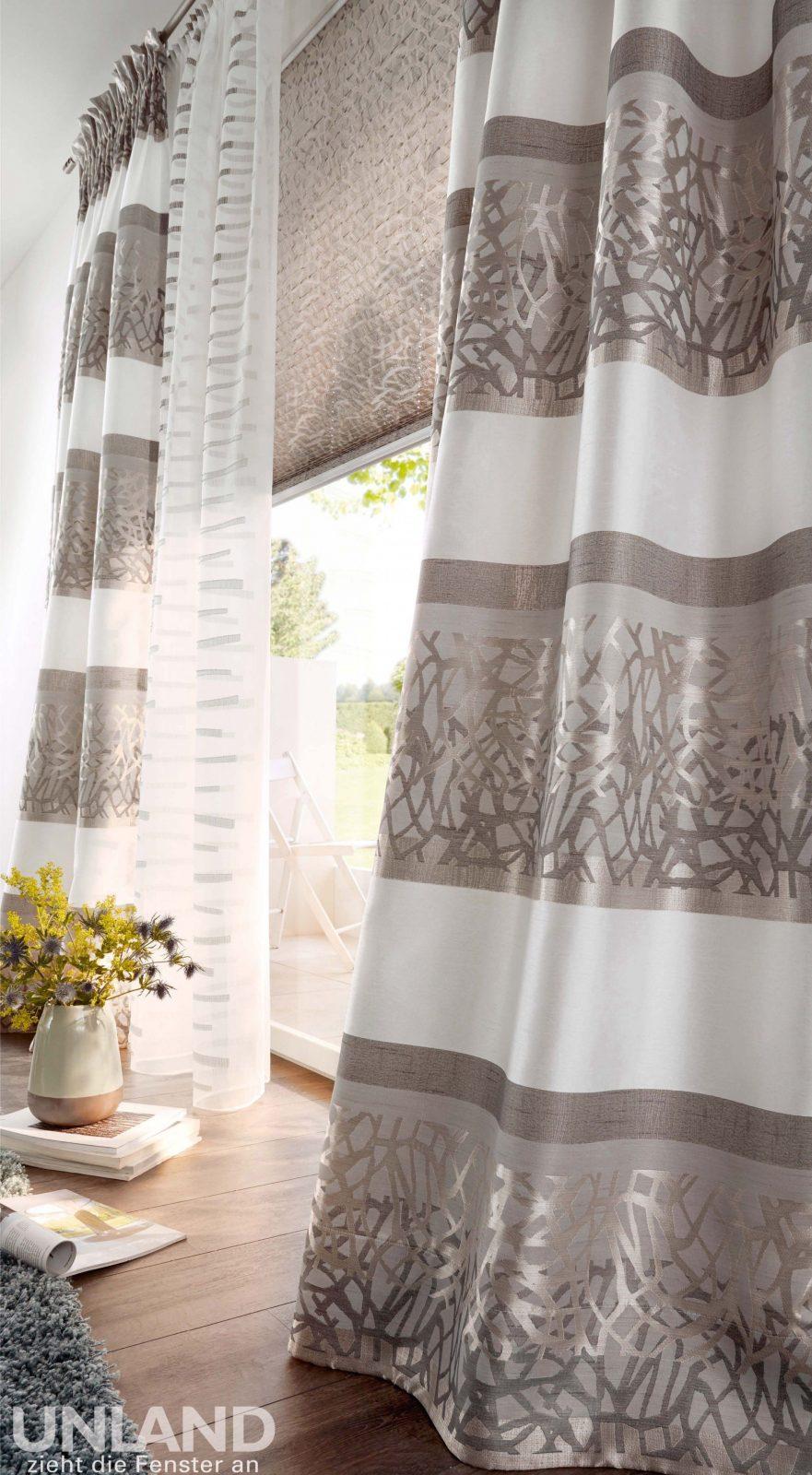 Unland Casa  Vorhang Fensterideen Gardinen Und Sonnenschutz von Unland Gardinen Outlet Bild