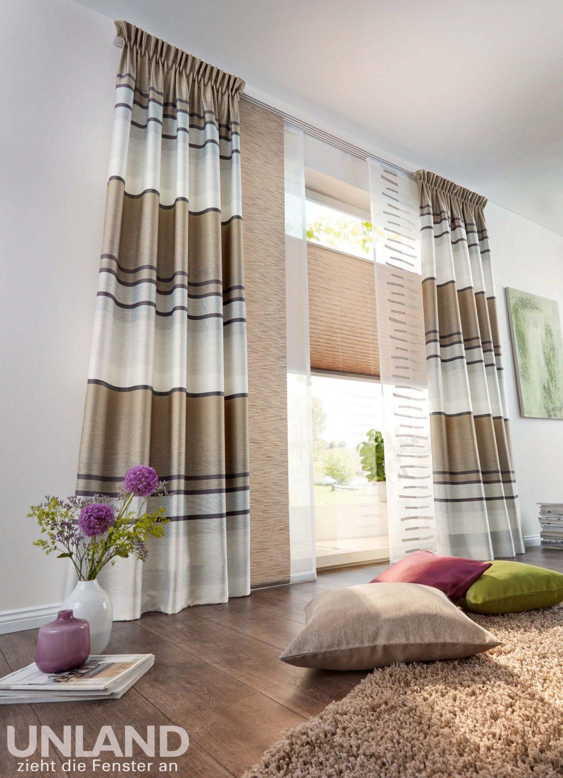unland linares cappuccino vorhang fensterideen gardinen und von unland gardinen muster photo. Black Bedroom Furniture Sets. Home Design Ideas