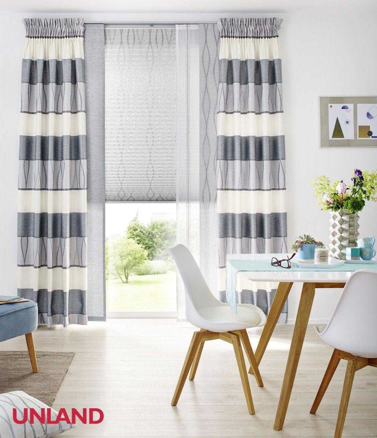 Unland Malvin Silver Vorhang Fensterideen Gardinen Und von Unland Gardinen Muster Bild