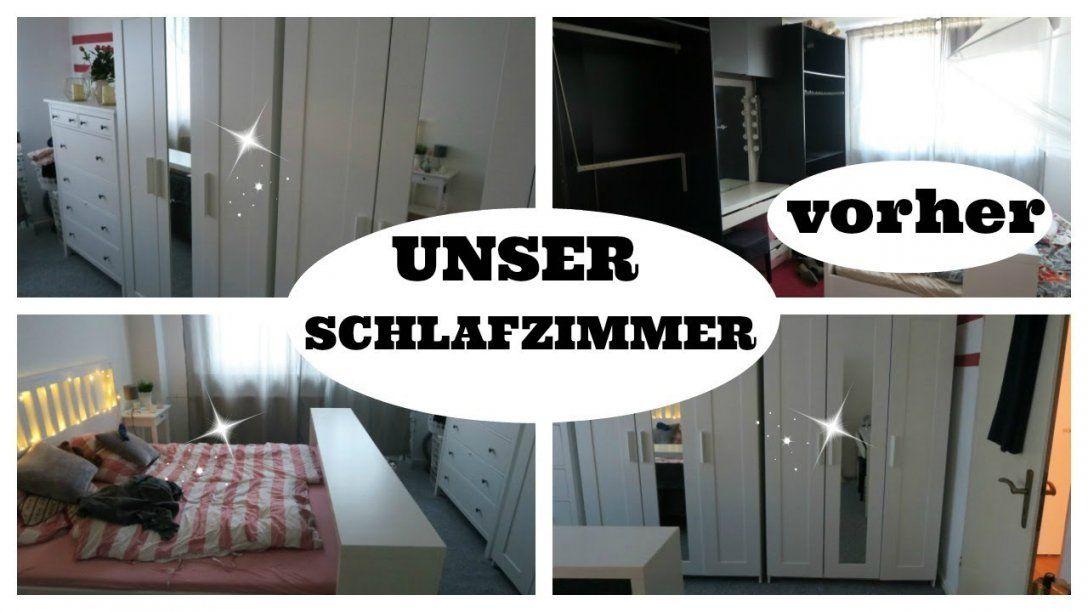 Unser Neues Schlafzimmer Roomtour Vorher Nachher Youtube Von Schlafzimmer  Renovieren Vorher Nachher Photo