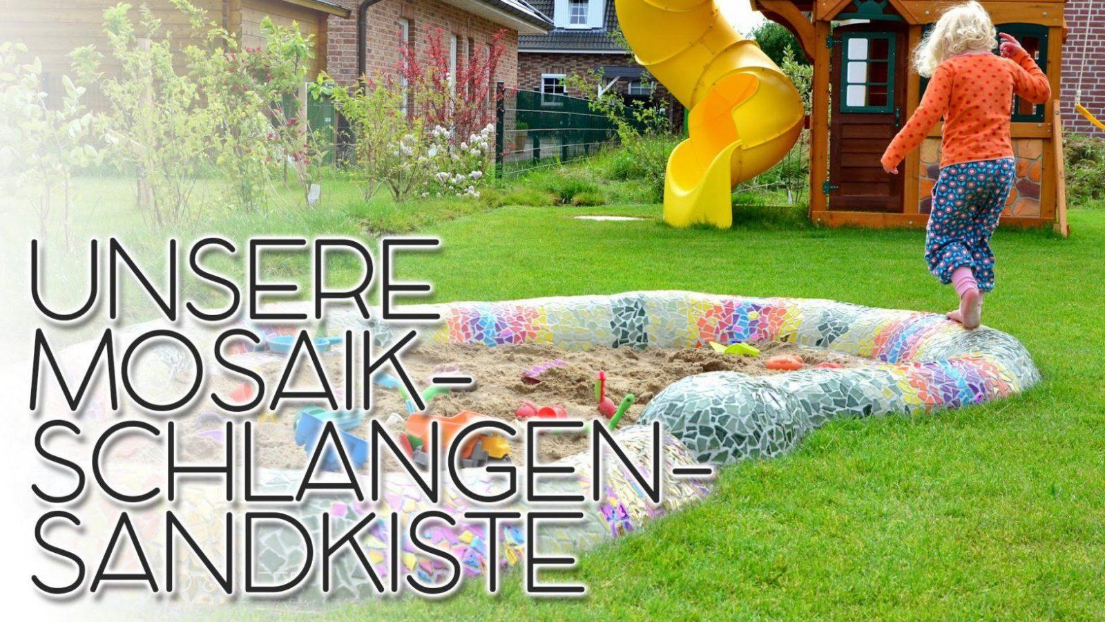 Unsere Mosaikschlangensandkiste  Mosaik Im Garten Selbermachen von Mosaik Im Garten Selber Machen Photo