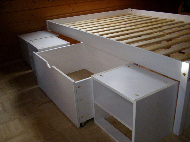 Untergestell Mit Schubladen Für Ein Bett …  Pinteres… von Treppe Mit Schubladen Selber Bauen Bild