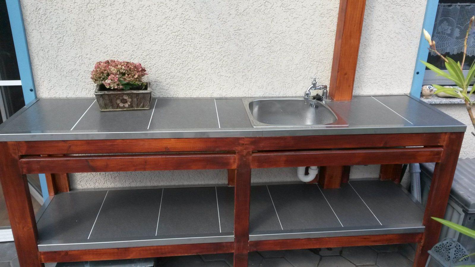 Userprojekt  Garten & Balkon  Selbst von Außenküche Selber Bauen Holz Bild