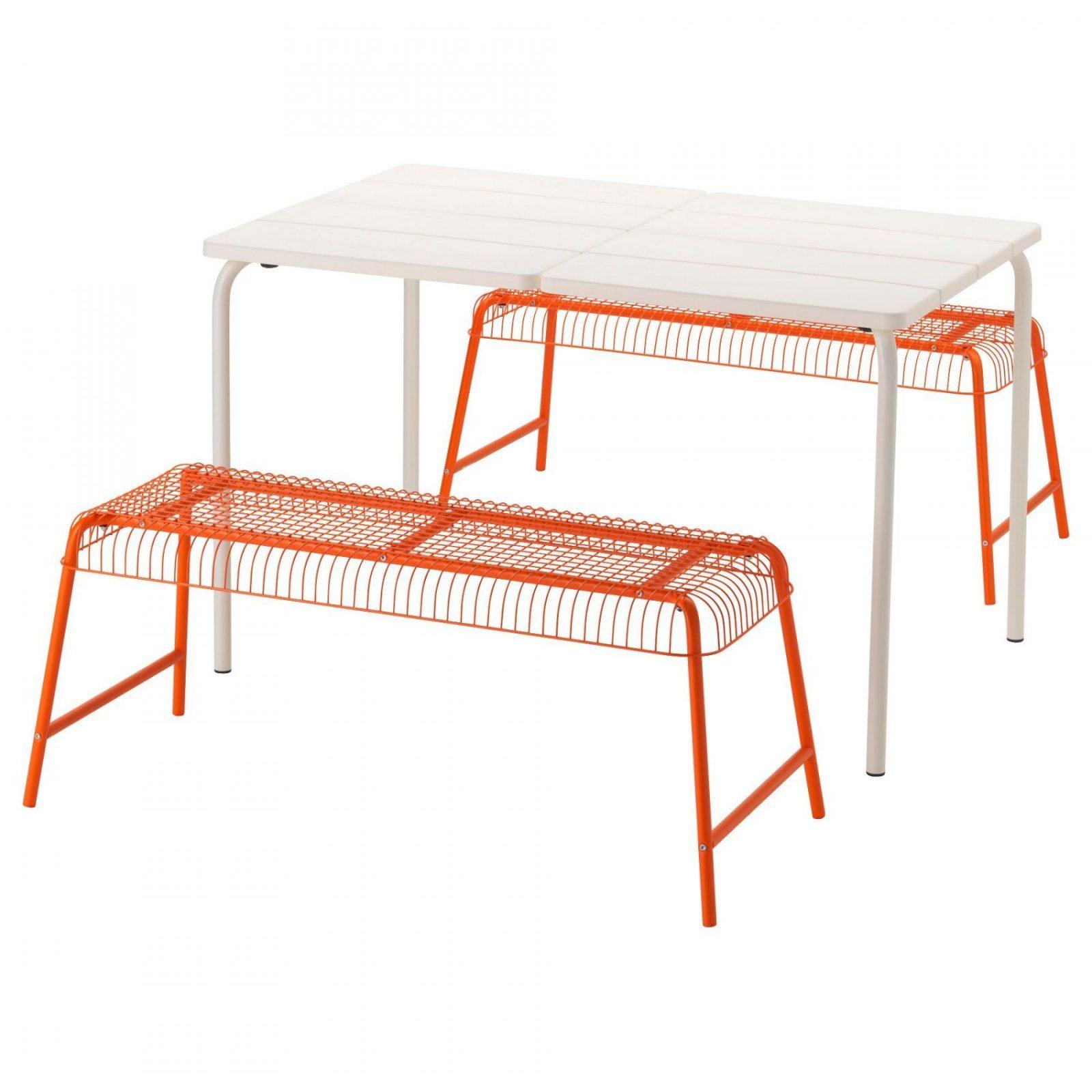 Väddö  Västerön Tisch+2 Bänkeaußen  Ikea von Ikea Bänke Für Draußen Bild