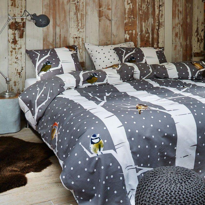 Vanezza Flanell Bettwäsche Birdie Grey Online Kaufen  Geschenkideen von Vanezza Flanell Bettwäsche Bild
