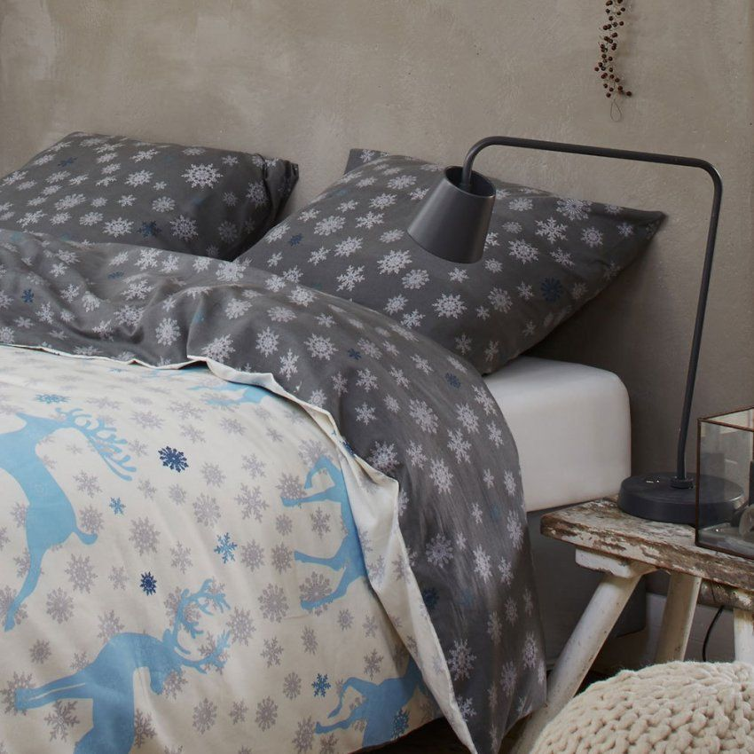 Vanezza Flanell Bettwäsche Resa Grey Günstig Online Kaufen Bei von Vanezza Flanell Bettwäsche Bild