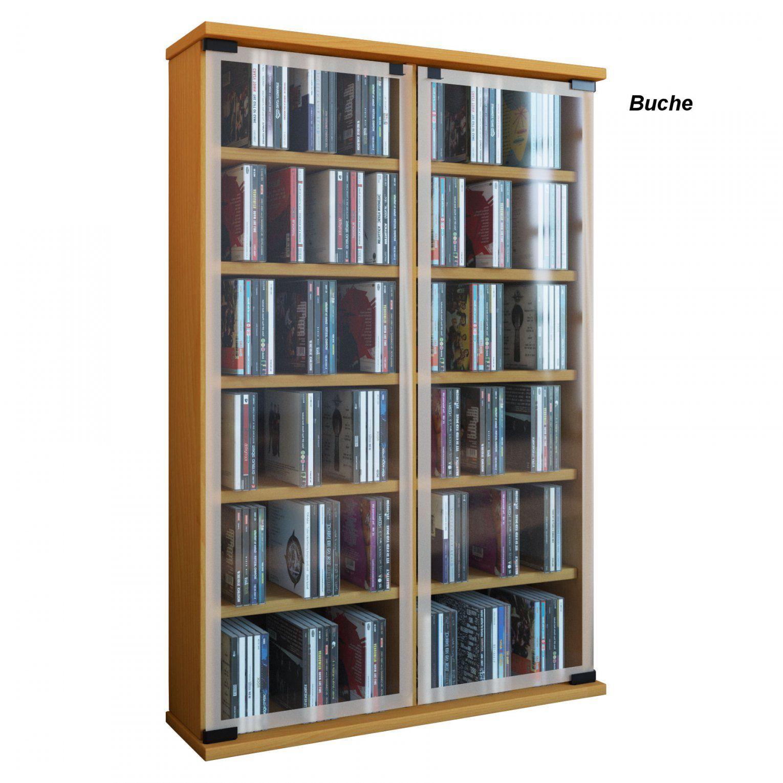 Vcm Galerie Cdregal Für 300 Cds Günstig Kaufen von Cd Regal Eiche Rustikal Bild