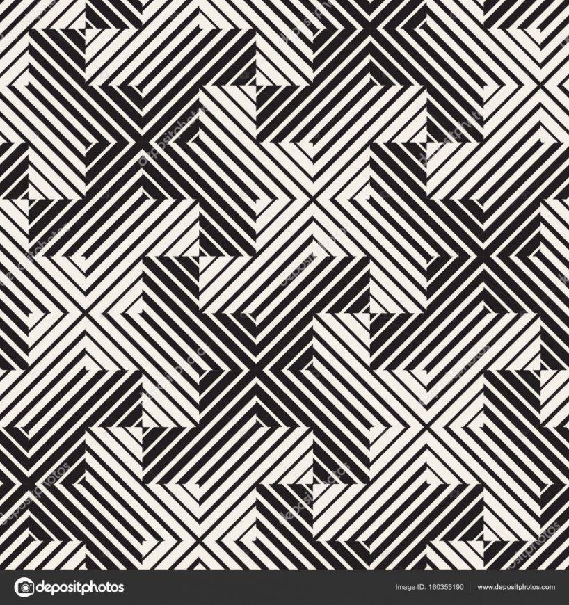 Vektor Nahtlose Schwarzweiß Linien Muster Abstrakten Hintergrund von Fliesen Schwarz Weiß Muster Photo