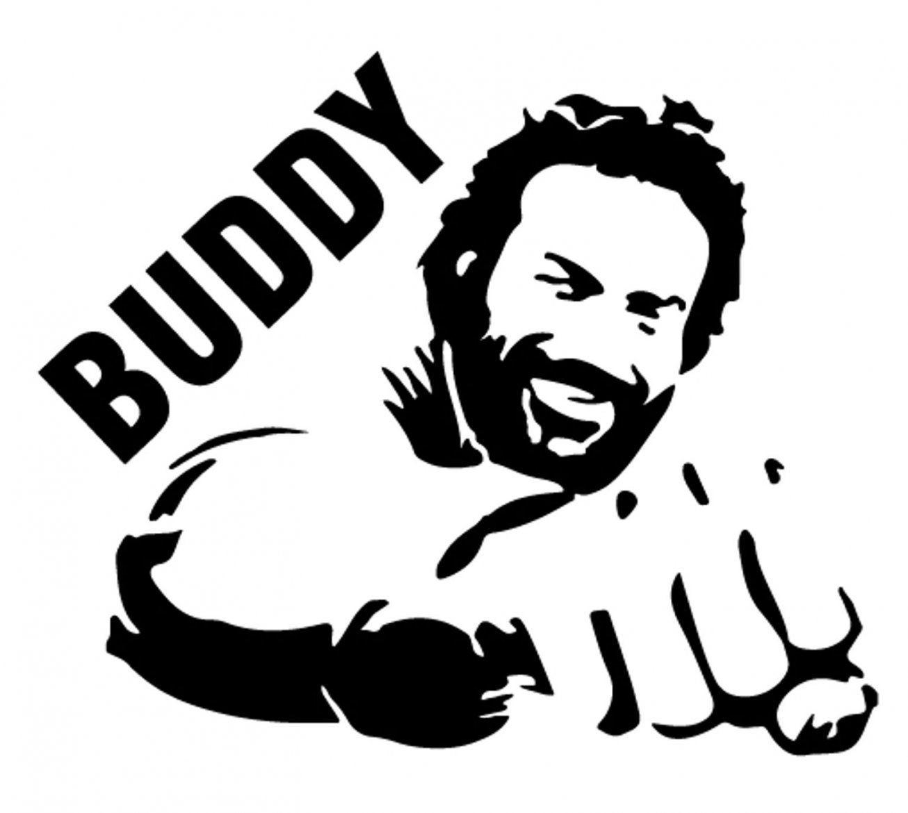 Verhandlungsbasis Bud Spencer Sticker Aufkleber Fürs Auto Wand In von Bud Spencer Schwarz Weiß Bild