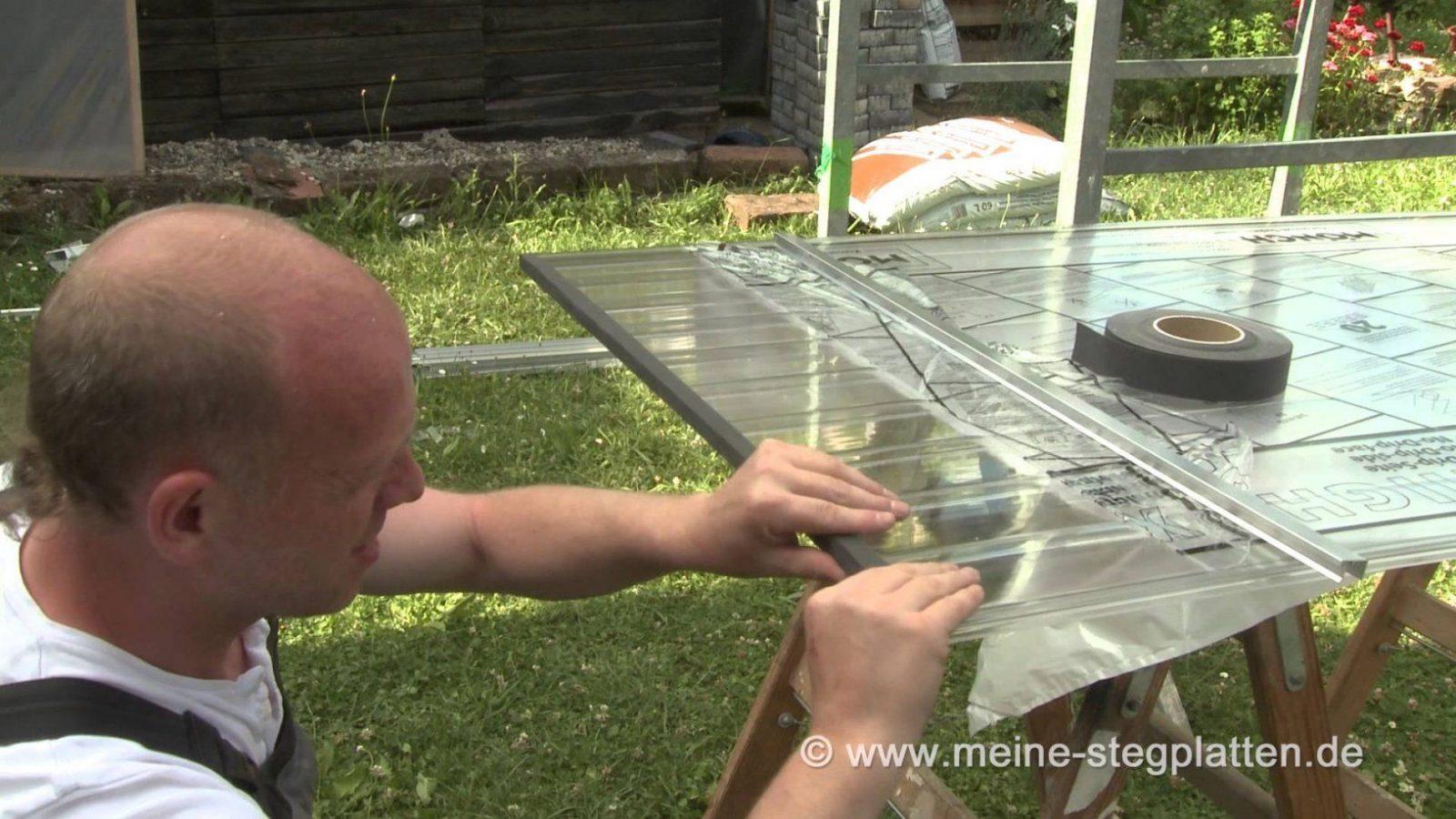 Verlegeanleitung Doppelstegplatten Mit Alu Durchschraubprofil von Aluprofile Gewächshaus Selber Bauen Bild