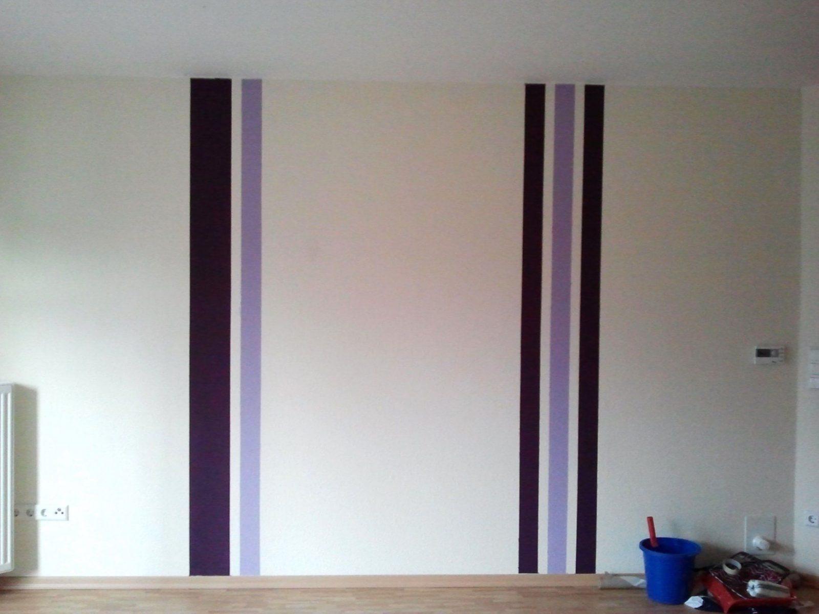 Very Attractive Design Streifen Streichen  Home Design Ideas von Wand Streichen Streifen Abkleben Bild