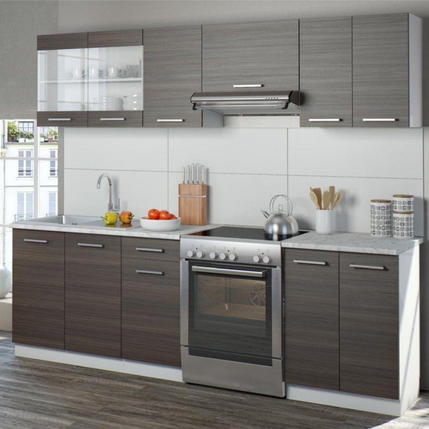 Vicco Küche 240 Cm Küchenzeile Küchenblock  Real von Küchenzeile 240 Cm Mit Kühlschrank Bild