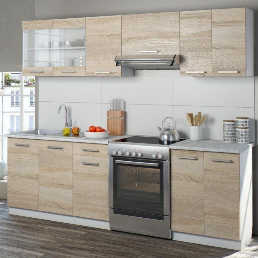 Vicco Küche 240 Cm Küchenzeile Küchenblock  Real von Küchenzeile 240 Cm Mit Kühlschrank Photo
