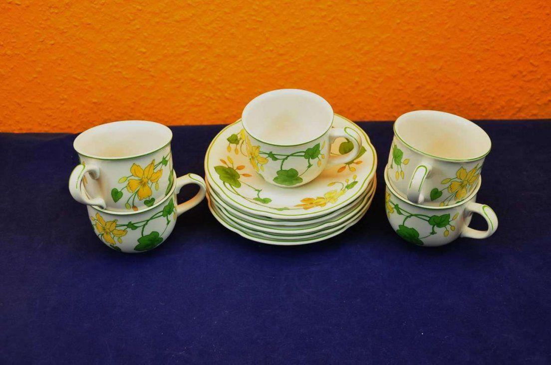Villeroy & Boch Geranium 5 X Kaffeetasse + Untertasse  Kusera von Kaffeeservice Villeroy & Boch Photo