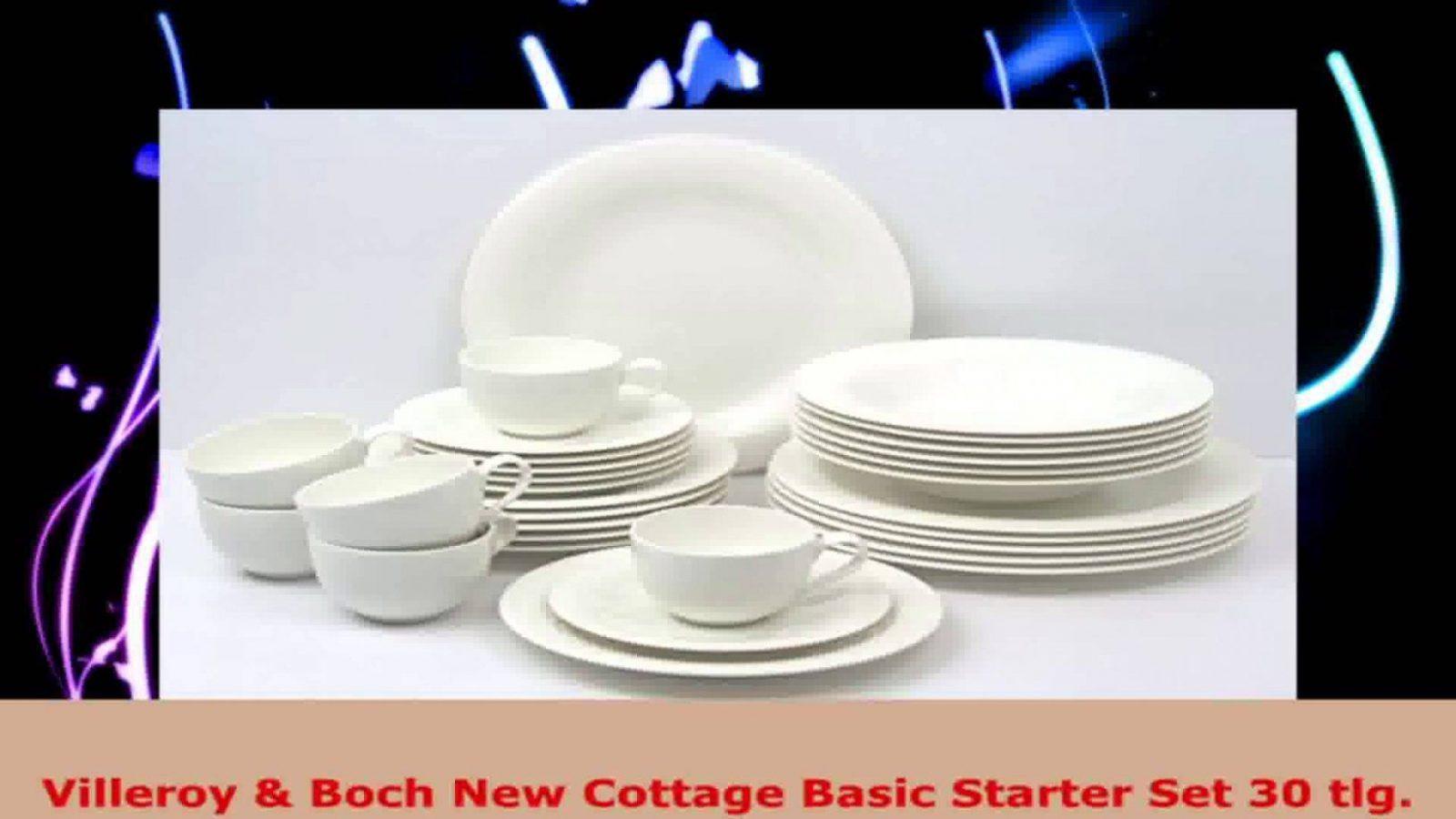 Villeroy Boch New Cottage Basic Starter Set 30 Tlg  Youtube von Villeroy & Boch Royal Basic Set 30 Teilig Bild