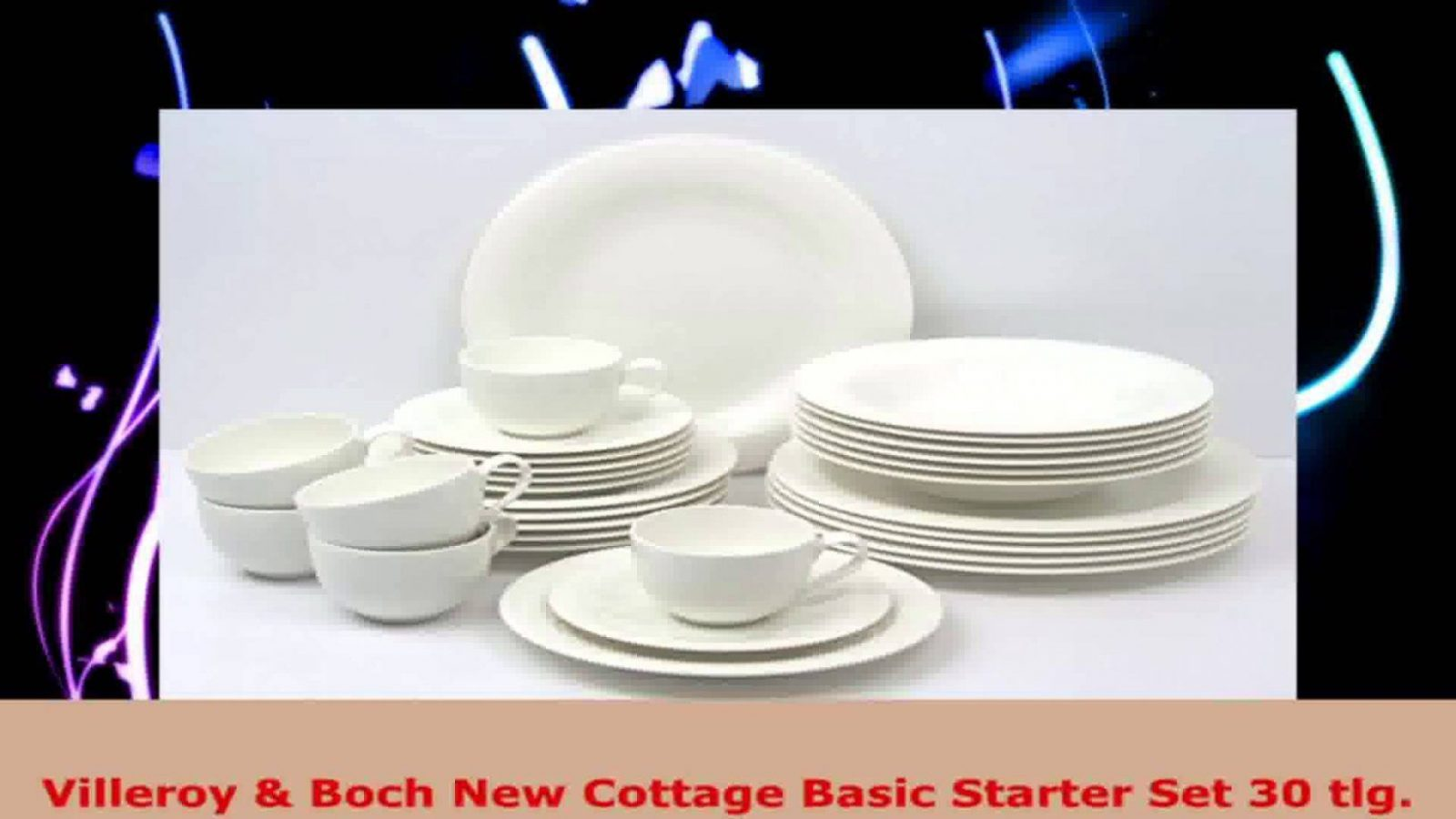 Villeroy Boch New Cottage Basic Starter Set 30 Tlg  Youtube von Villeroy Boch Royal Basic Bild