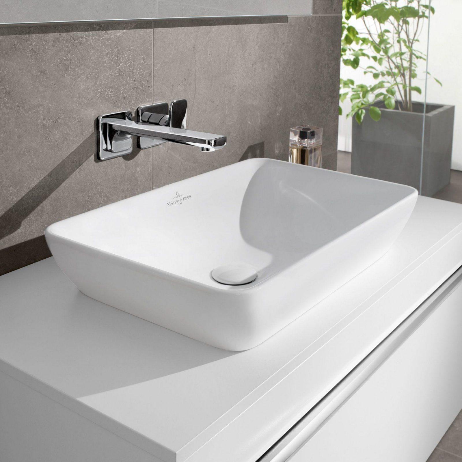 Villeroy & Boch Venticello Halbeinbauaufsatzwaschtisch Weiß Mit von Waschbecken Gäste Wc Villeroy Und Boch Bild