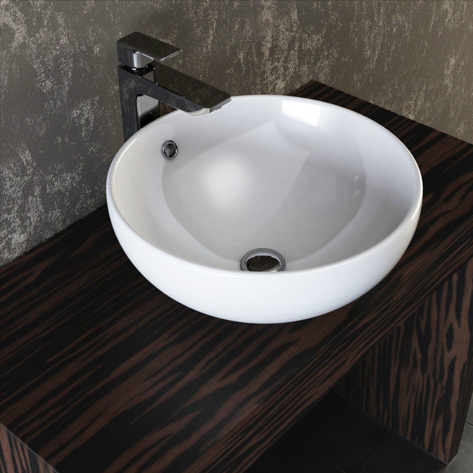 Vilstein© Keramik Waschbecken Aufsatzwaschbecken Waschtisch Rund von Waschbecken Rund 30 Cm Photo