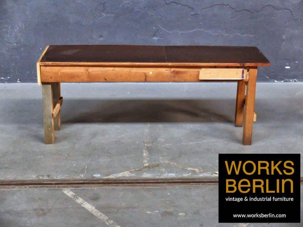 Vintage Werkbank Die Auch Als Sideboard Arbeitstisch Esstisch von Alte Werkbank Als Esstisch Bild