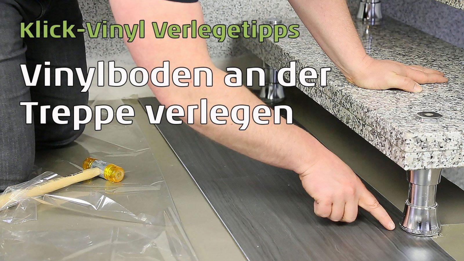 Vinylboden An Der Treppe Verlegen  Youtube von Vinylboden Auf Fliesen Legen Photo