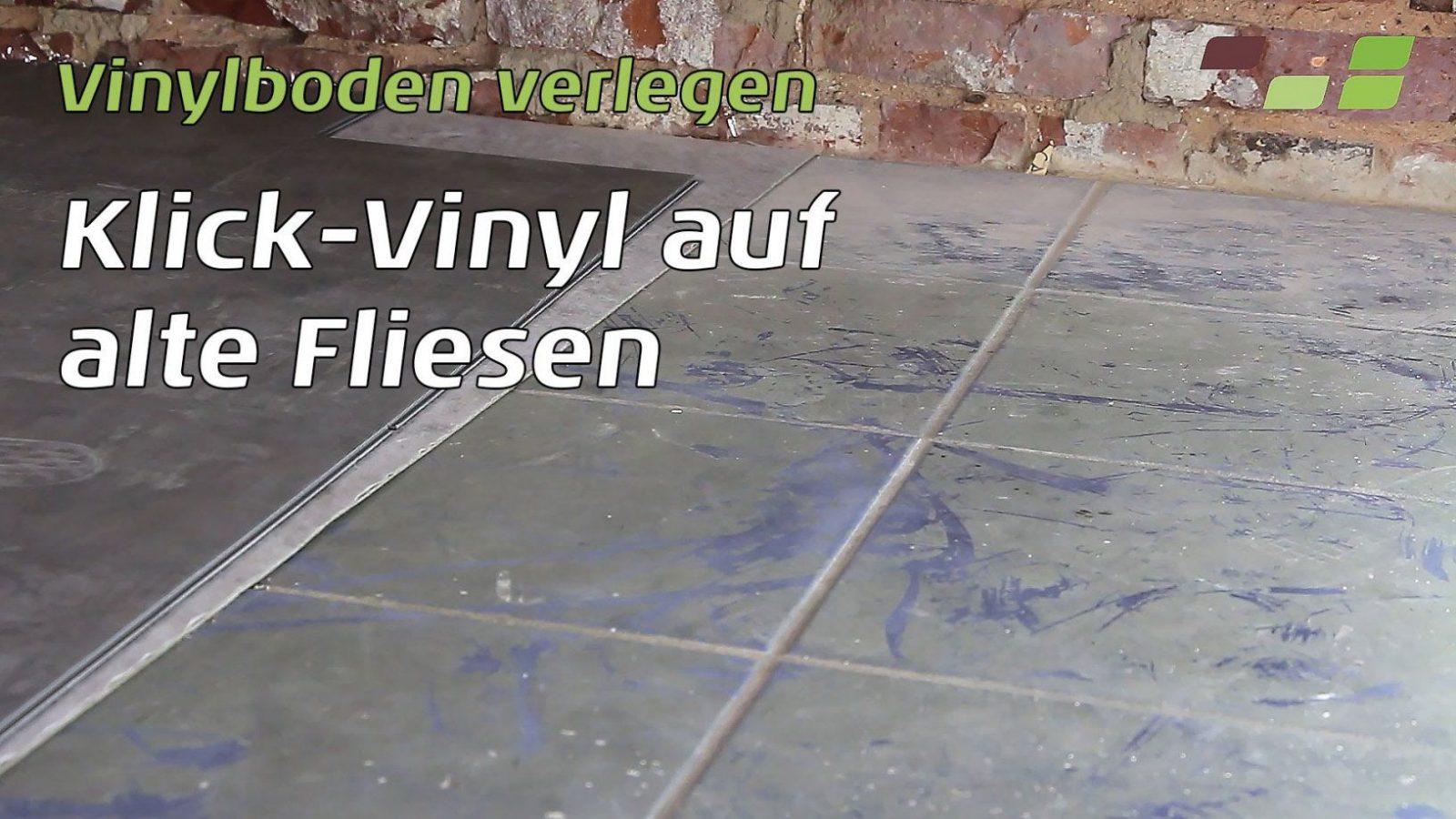 Vinylboden Auf Fliesen Verlegen Planeo Klickvinyl  Youtube von Vinyl Laminat Selbstklebend Verlegen Photo