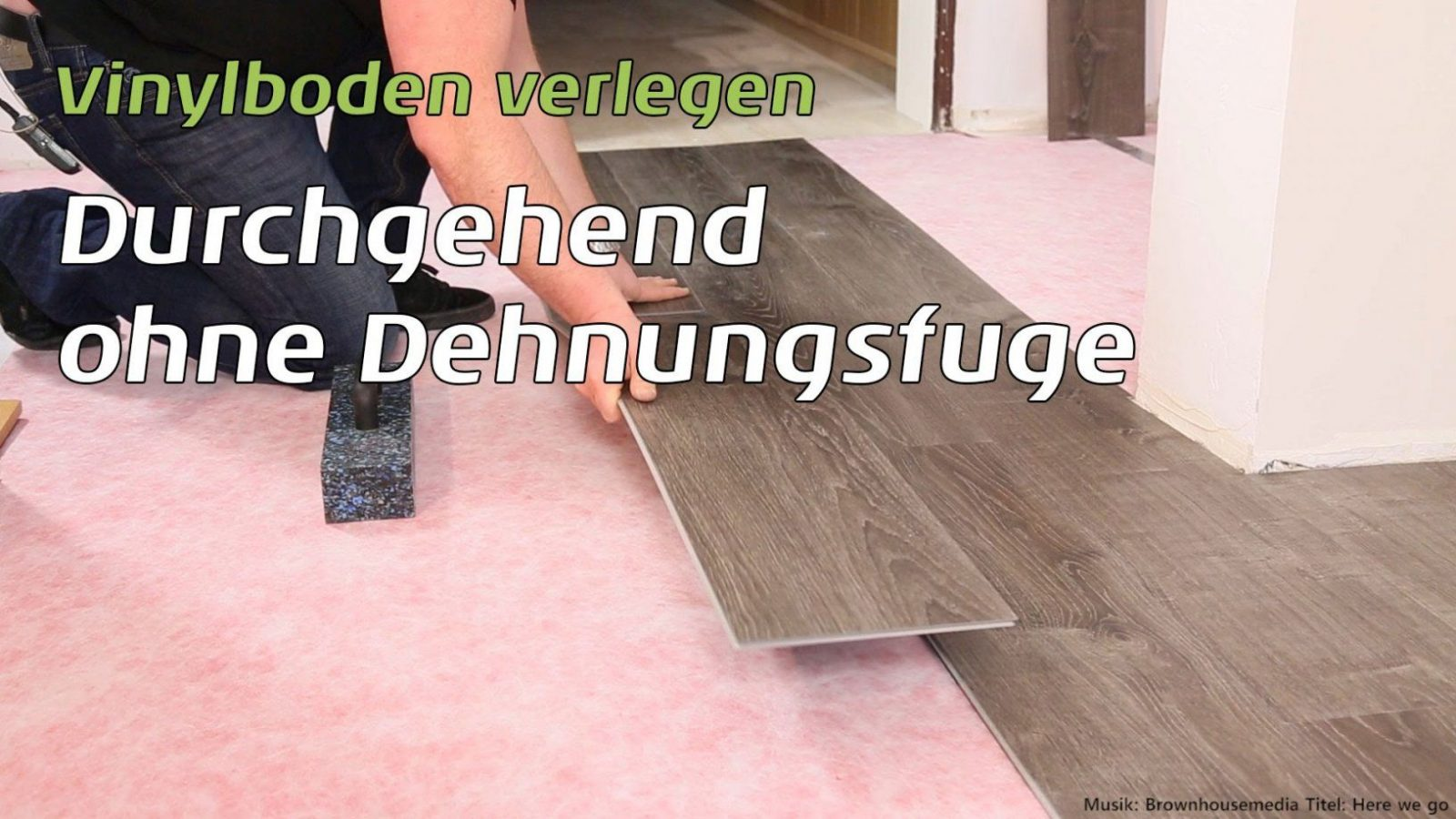 Vinylboden Durchgehend Ohne Dehnungsfuge Verlegen  Youtube von Vinyl Auf Fliesen Mit Fußbodenheizung Verlegen Bild