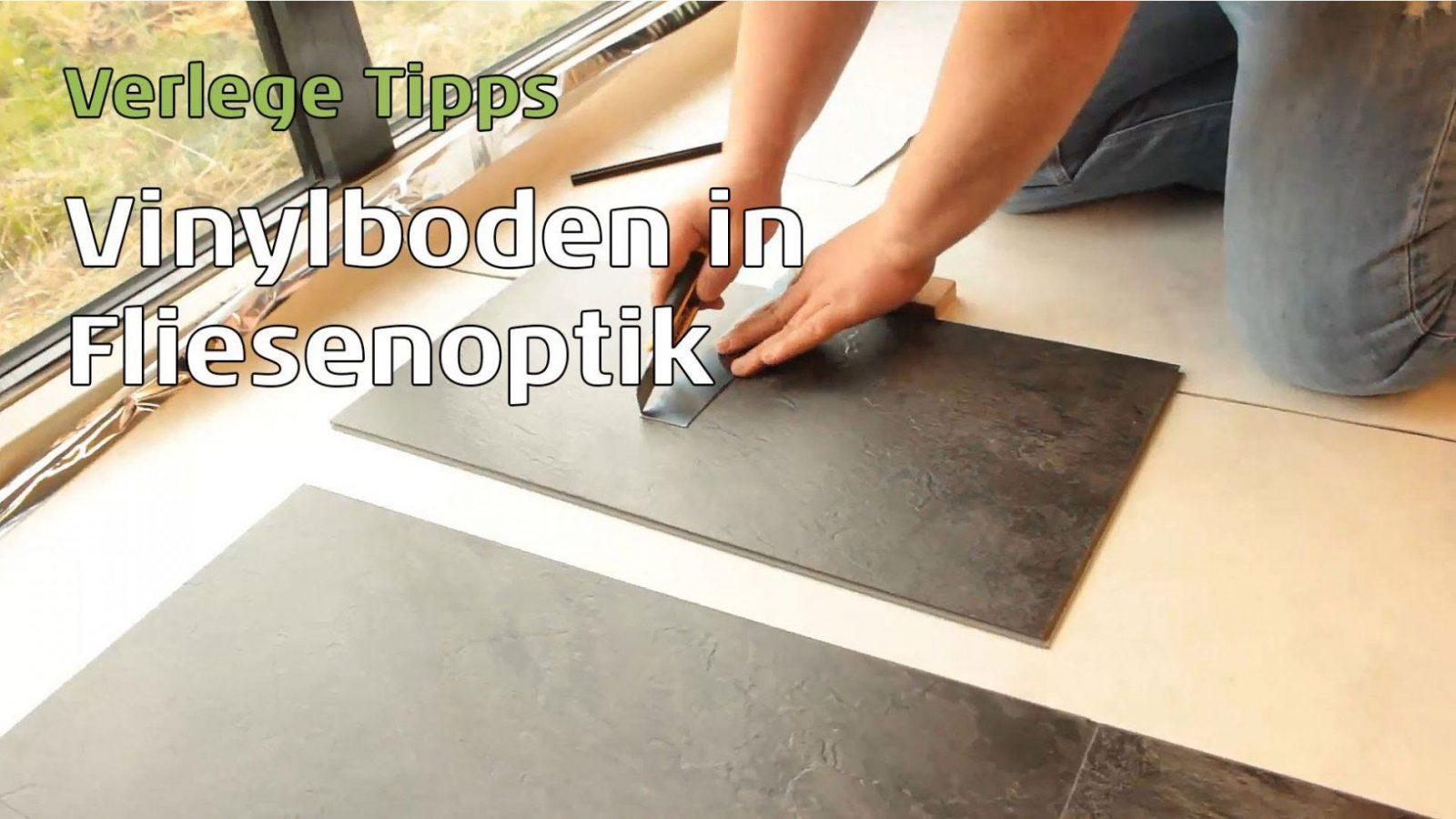 Vinylboden In Fliesenoptik Verlegen Parkett Wohnwelt Erklärt Wie Es von Vinyl Fliesen Verlegen Anleitung Bild