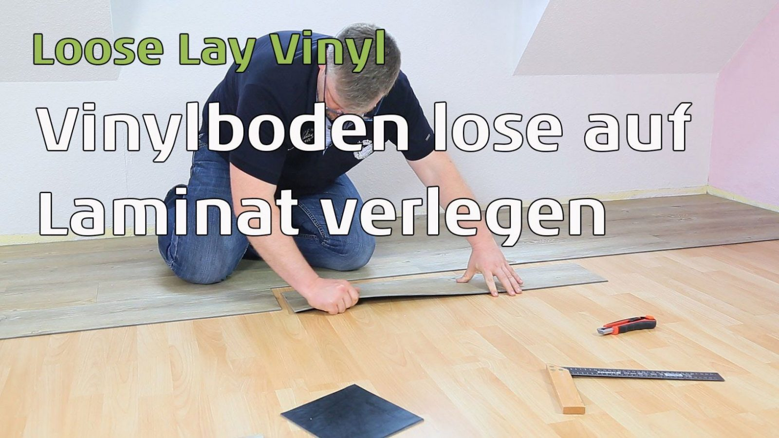 Vinylboden Lose Verlegen  Loose Lay Vinyl  Youtube von Vinylboden Auf Fliesen Fussbodenheizung Bild