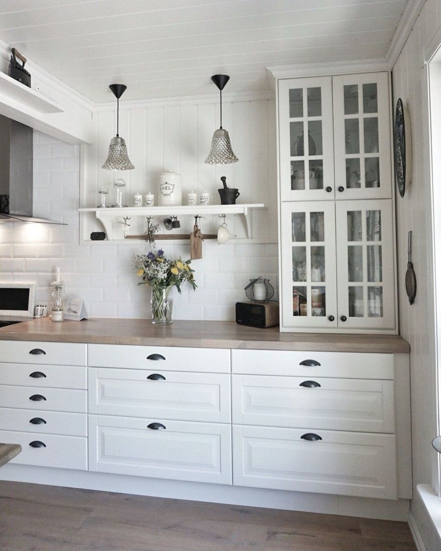 Vitrinehängeschränke Stapeln Ikea Kitchen  Behindabluedoor von Ikea Küche Metod Bodbyn Photo