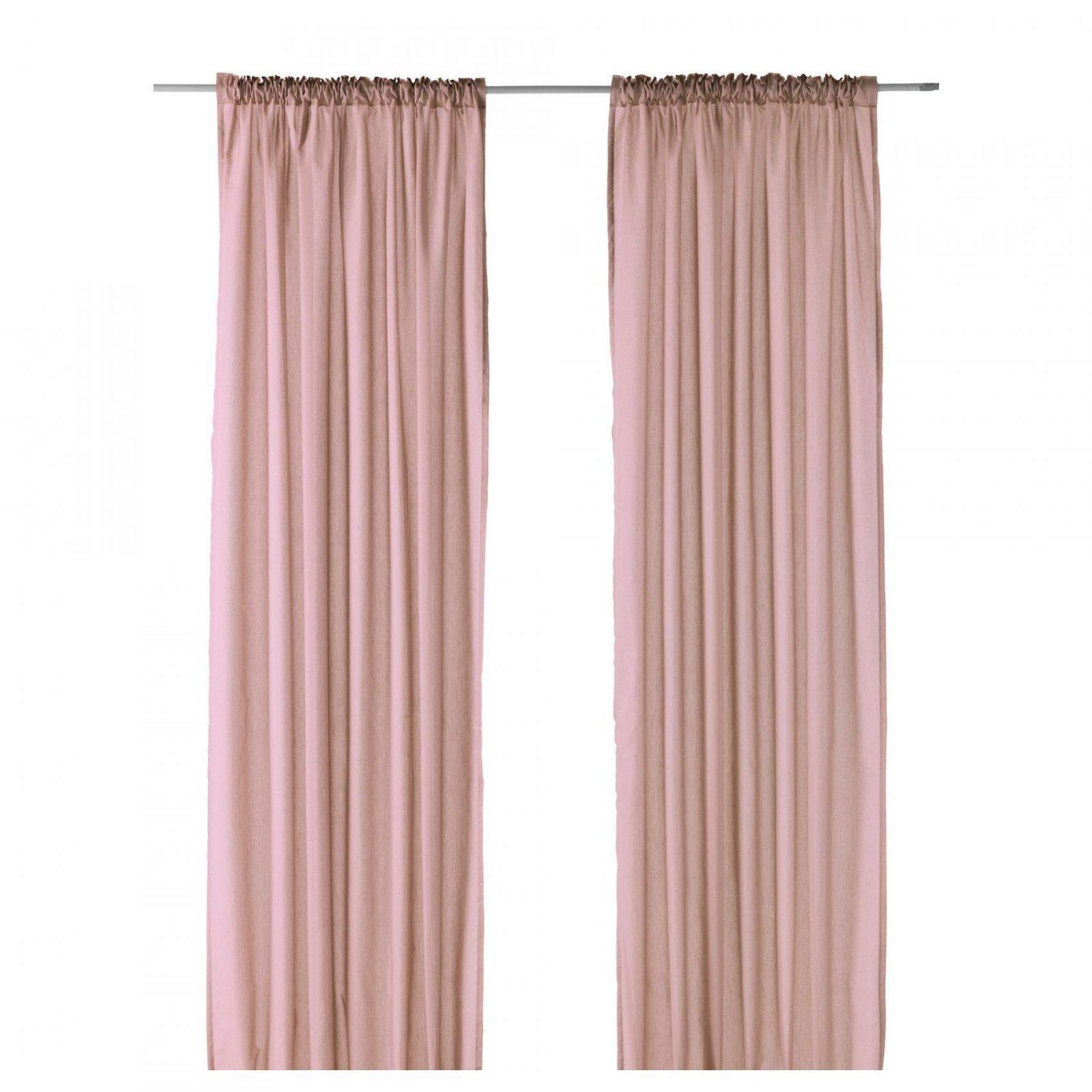 "Vivan Curtains 1 Pair  Pink 57X98 ""  Ikea Elaine Curtains von Gardinen Rosa Ikea Photo"