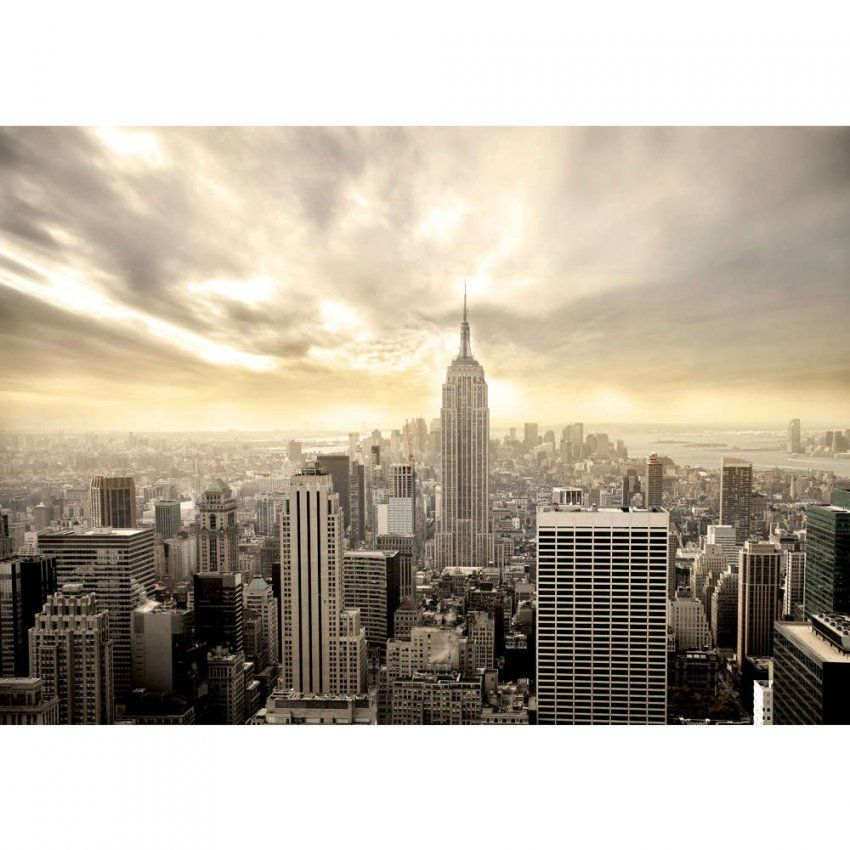 Vlies Fototapete Manhattan Skyline View Usa Tapete New York Usa von Fototapete 3D New York Photo