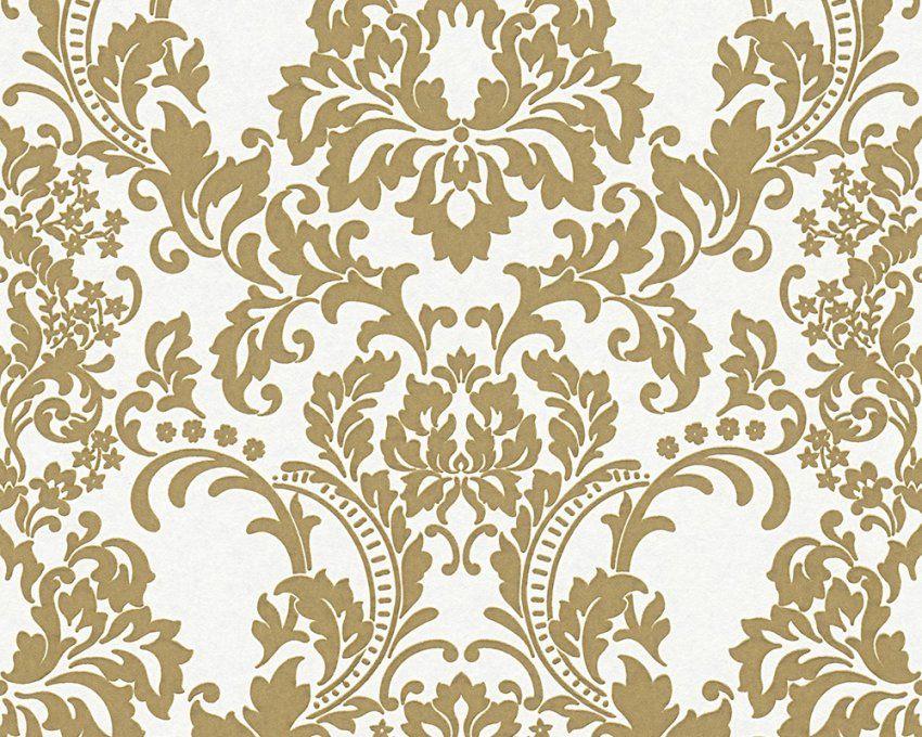 Vliestapete Überstreichbar Barock Weiß Gold Ap Pigment 964625 von Barock Tapete Weiß Gold Photo