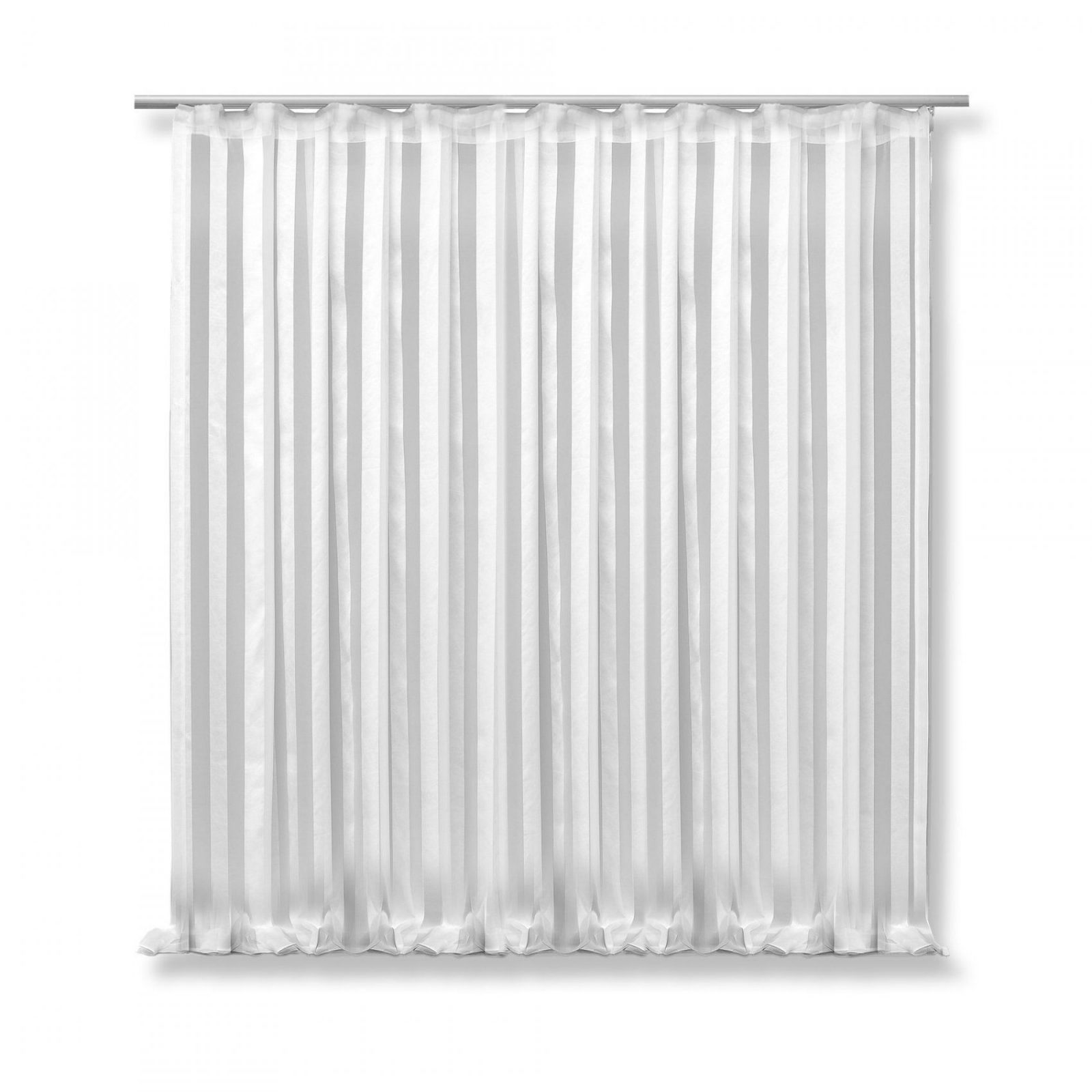 Voile Dekoschal Isa 300X245 Cm Weiß Halb Transparent Kräuselband von Gardine Weiß Transparent Kräuselband Bild