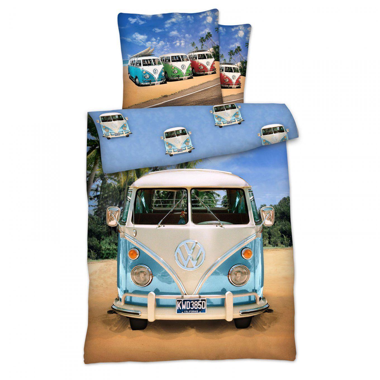 Volkswagen Bulli T1 Bettwäsche Set 135X200Cm Vw Bettzeug Oldtimer von Vw Bus Bettwäsche Bild
