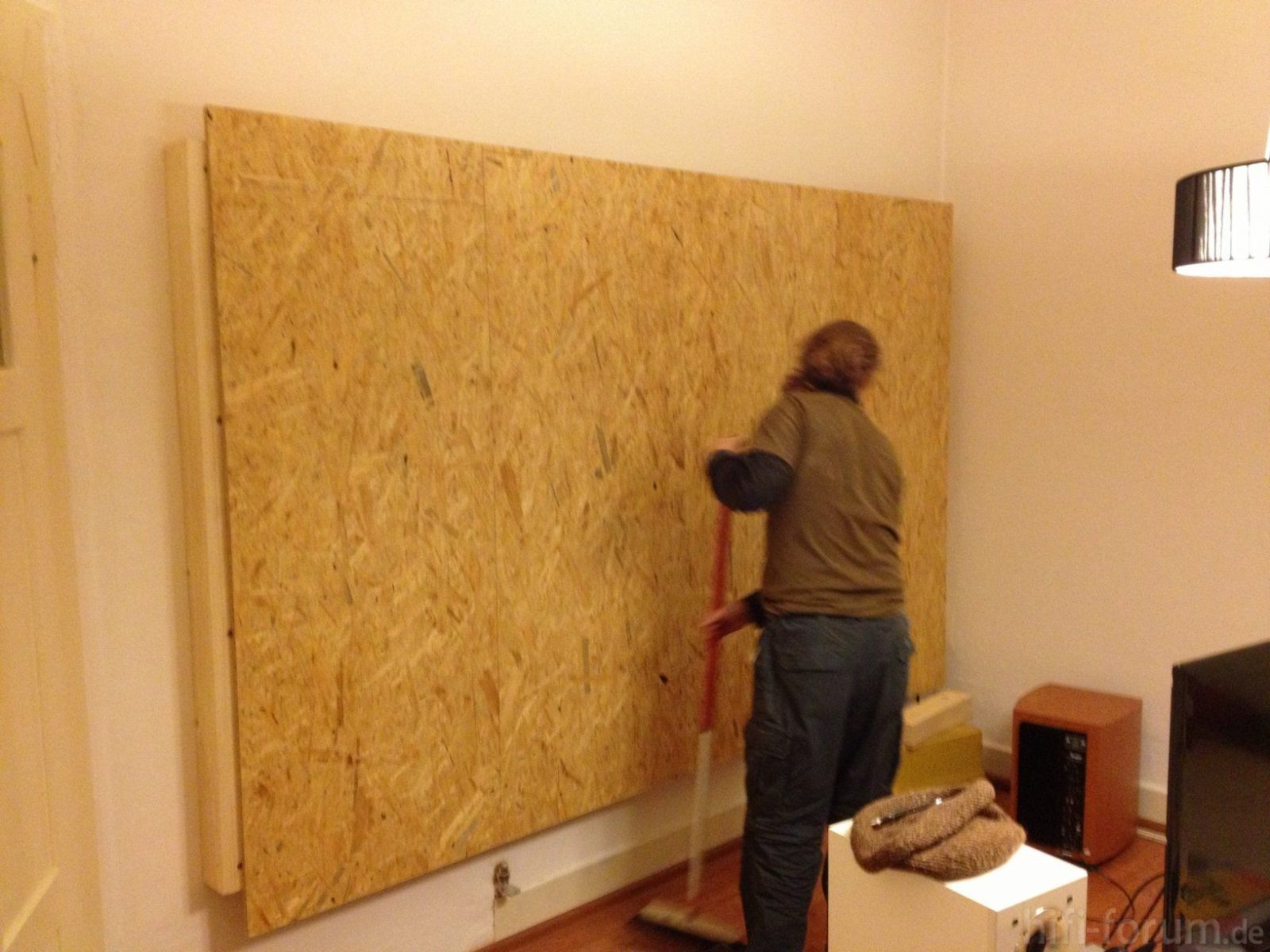 Vorbauwand Für Tv Center & Frontspeaker  Material Tipps Racks von Wand Paneele Verkleidung Anbringen Bild