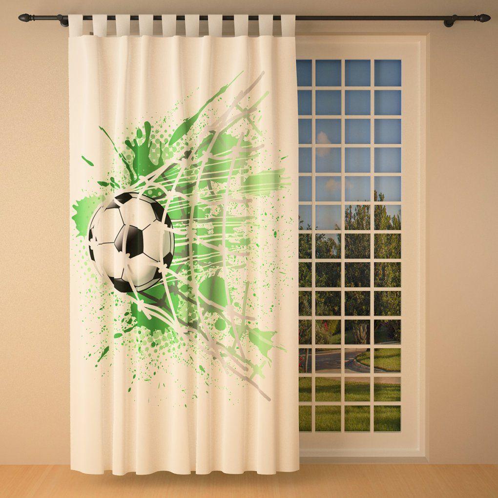 """Vorhang """"fußball"""" 145 X 245 Cm  Blickdicht Lichtdurchlässig von Gardinen 145 Cm Hoch Bild"""