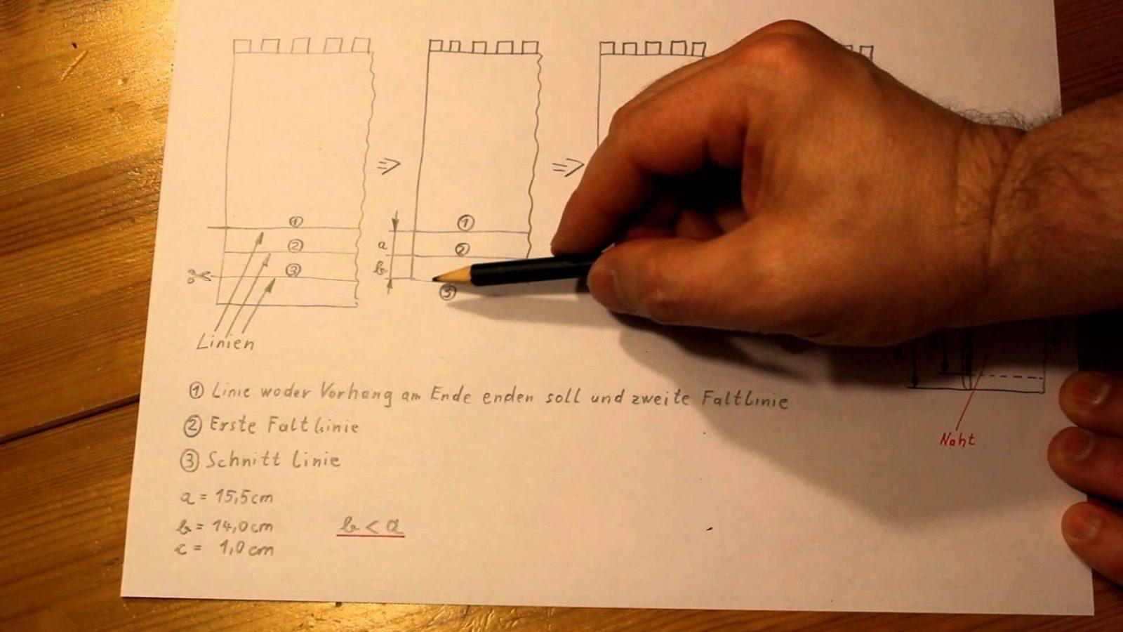 Vorhang Kürzen Teil 0808 Die Skizze  Youtube von Gardinen Kürzen Ikea Bild