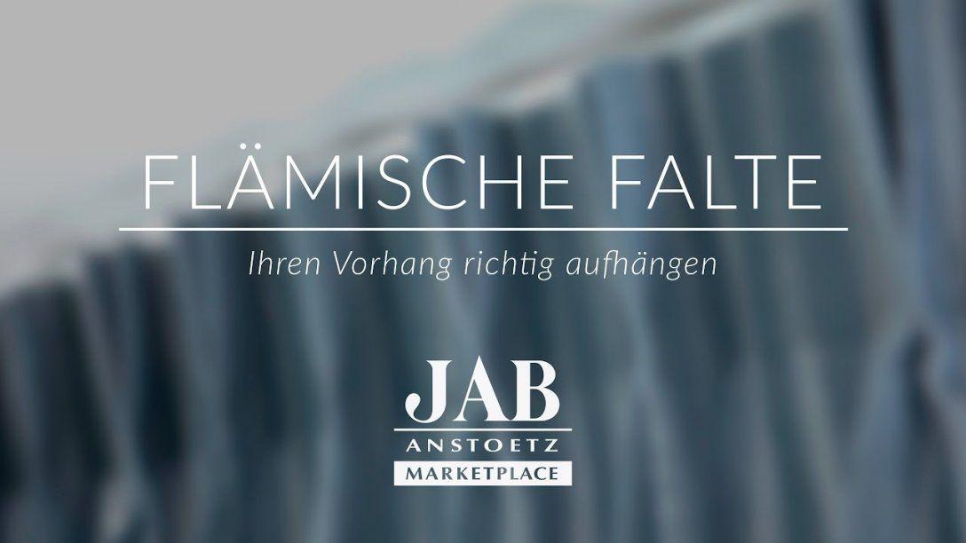 Vorhang Mit Flämischen Faltenband Richtig Aufhängen  Jab Anstoetz von Gardinen Mit Faltenband Aufhängen Photo