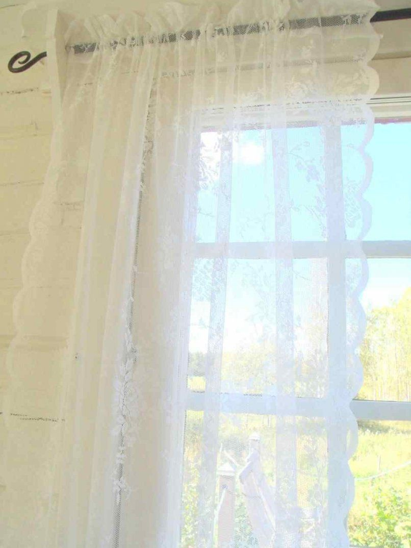Vorhang  Vintage Vintage Shabby Chic Vorhange Blau Gardinen von Vintage Gardinen Küche Photo