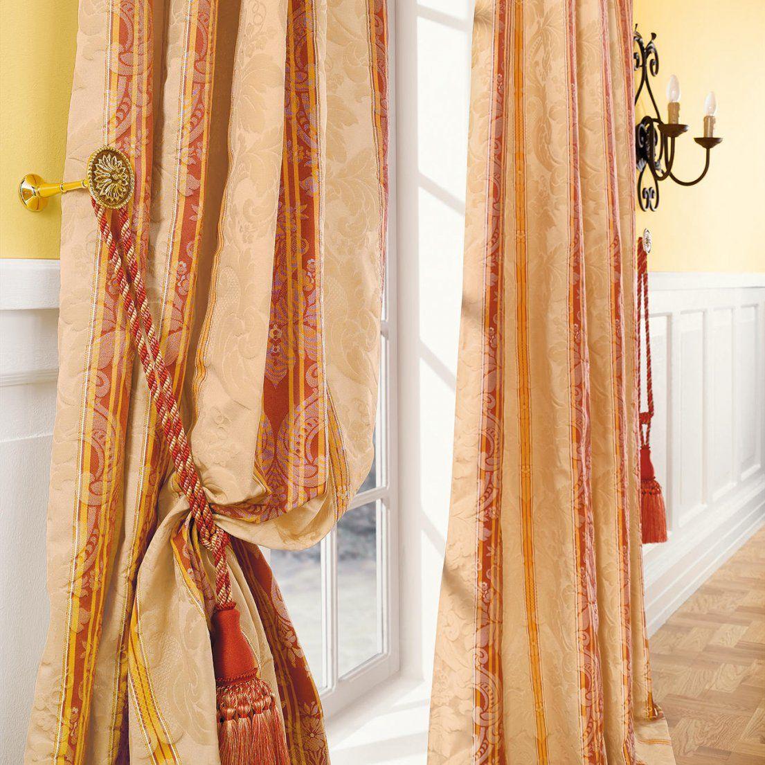 Vorhänge Gardinen Und Stores Online Kaufen  Das Kavaliershaus von 2 Vorhänge Schals Gardinen Orange Mediterran Bild