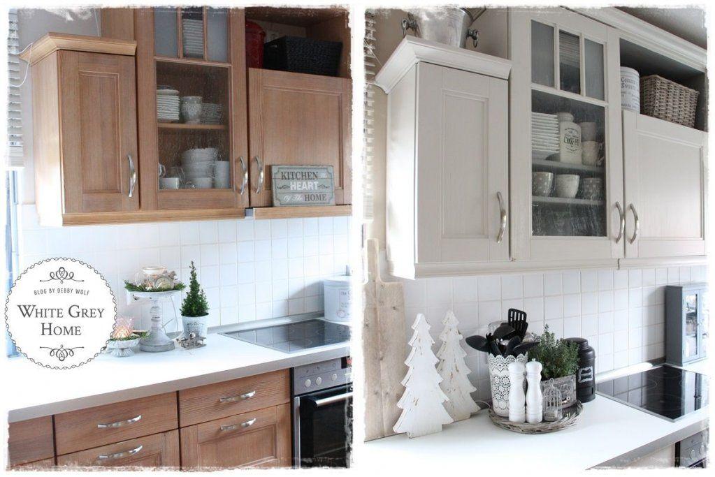 Vorher Nachher In Einer Landhausküche  Kitchen  Pinterest von Küche Verschönern Vorher Nachher Photo