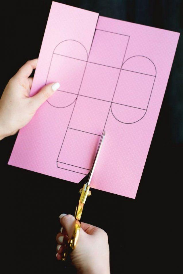 Vorlage Ausschneiden Und Falten  Igs  Pinterest  Ausschneiden von Kleine Schachteln Basteln Vorlagen Photo